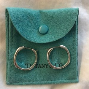 Authentic Tiffany & co sterling silver hoops